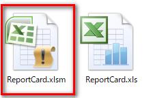 xlsm形式ファイル作成後